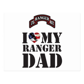 I LOVE MY RANGER DAD POSTCARD