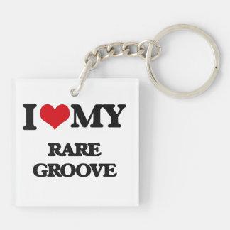 I Love My RARE GROOVE Key Chain