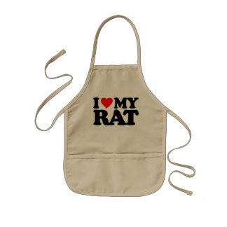 I LOVE MY RAT KIDS' APRON