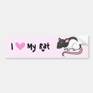 I Love My Rat Car Bumper Sticker