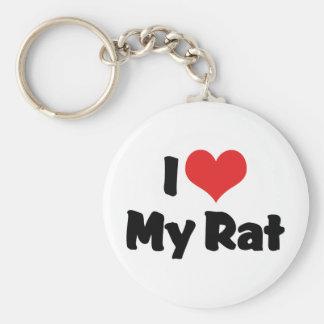 I Love My Rat Keychain