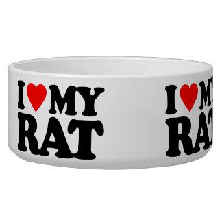 I LOVE MY RAT DOG FOOD BOWL