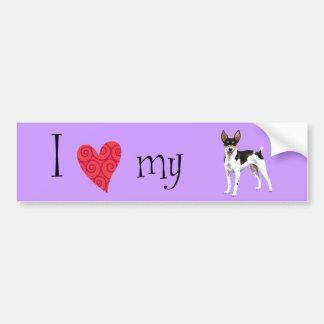 I Love my Rat Terrier Bumper Sticker