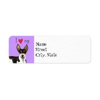 I Love my Rat Terrier Label