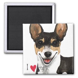 I Love my Rat Terrier Magnet
