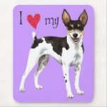 I Love my Rat Terrier Mouse Pad