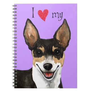 I Love my Rat Terrier Notebook