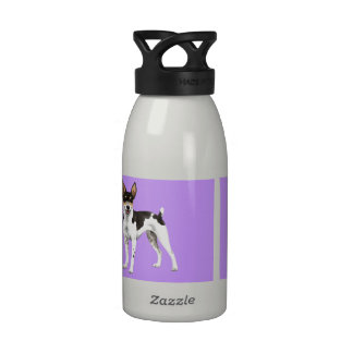 I Love my Rat Terrier Reusable Water Bottle