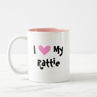I Love My Rat Terrier / Toy Fox Terrier Two-Tone Coffee Mug