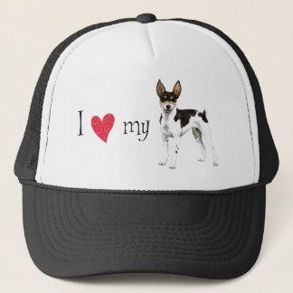 I Love my Rat Terrier Trucker Hat