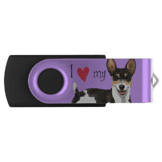 I Love my Rat Terrier USB Flash Drive
