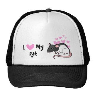 I Love My Rat Trucker Hat