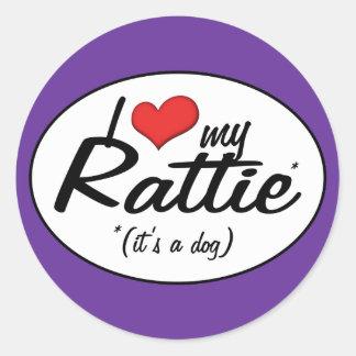 I Love My Rattie (It's a Dog) Classic Round Sticker