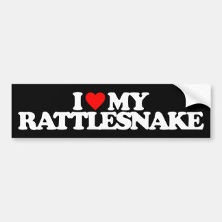 I LOVE MY RATTLESNAKE BUMPER STICKER