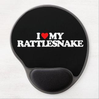 I LOVE MY RATTLESNAKE GEL MOUSE PAD