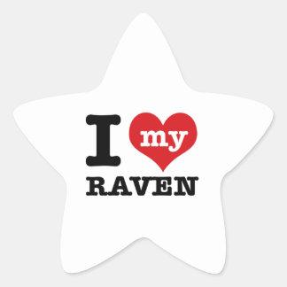 I love my Raven Star Sticker