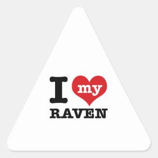 I love my Raven Triangle Sticker