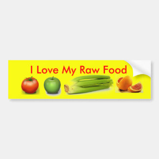 I Love My Raw Food Bumper Sticker