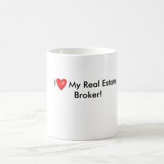 I Love My Real Estate Broker Mug! Coffee Mug