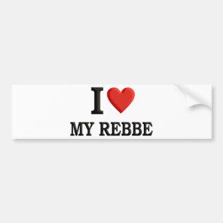 I love My Rebbe Car Bumper Sticker