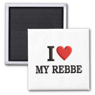 I love My Rebbe 2 Inch Square Magnet
