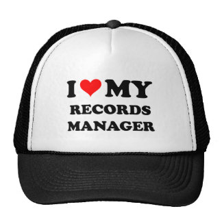 I Love My Records Manager Trucker Hats