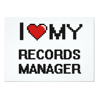 I love my Records Manager 5x7 Paper Invitation Card