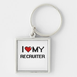 I love my Recruiter Silver-Colored Square Keychain