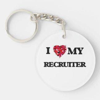 I love my Recruiter Single-Sided Round Acrylic Keychain