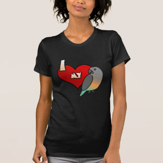 I Love my Red Bellied Parrot Ladies Twofer Shirt