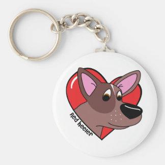 I Love my Red Heeler Keychain