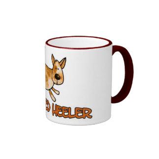 i love my red heeler ringer coffee mug