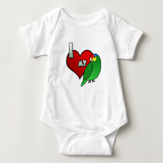I Love my Red Lored Amazon Baby Creeper