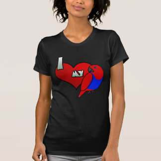 I Love my Red Sided Eclectus Women's Twofer Shirt
