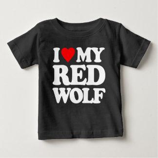 I LOVE MY RED WOLF BABY T-Shirt