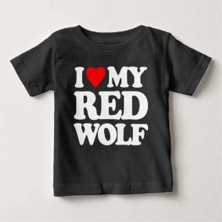 I LOVE MY RED WOLF T SHIRT