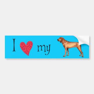 I Love my Redbone Coonhound Bumper Sticker