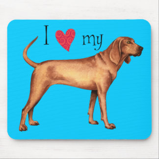I Love my Redbone Coonhound Mouse Pad