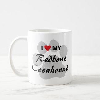 I Love My Redbone Coonhound Classic White Coffee Mug