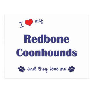 I Love My Redbone Coonhounds (Multiple Dogs) Postcard