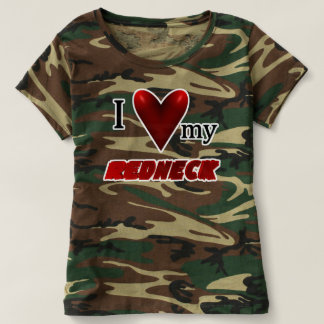 I Love My Redneck Camo T-Shirt