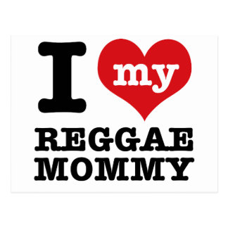 I love my reggae dance Mom Postcard