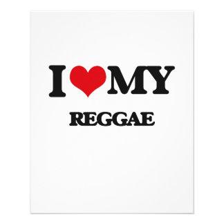 I Love My REGGAE Custom Flyer