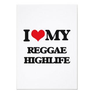 """I Love My REGGAE HIGHLIFE 5"""" X 7"""" Invitation Card"""