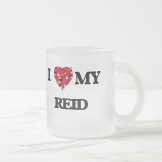 I Love MY Reid 10 Oz Frosted Glass Coffee Mug
