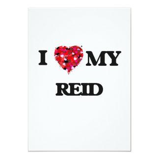 I Love MY Reid 5x7 Paper Invitation Card