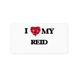I Love MY Reid Address Label