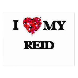 I Love MY Reid Postcard