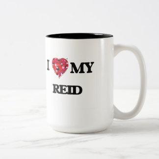 I Love MY Reid Two-Tone Coffee Mug