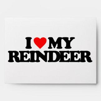 I LOVE MY REINDEER ENVELOPES